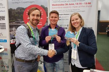 Helsinki representatives at Velo-city 2019