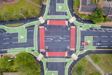Royce Road CYCLOPS junction aerial view