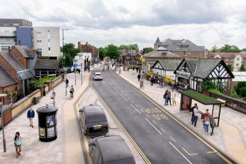 Greater Manchester - Bee Network Improvements - Sale School Road