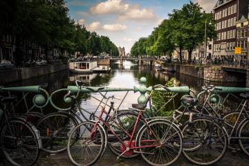 Amsterdam bike parking j
