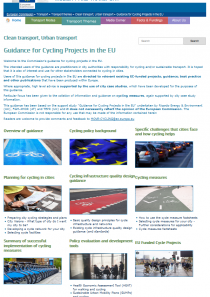 Guidance for cycling projects webpage